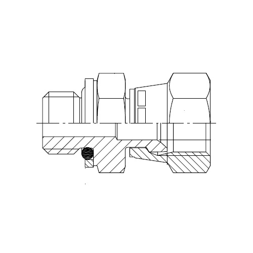 F68OMX - hydraulické hrdlo s otočnou maticí Triple-Lok® 37°