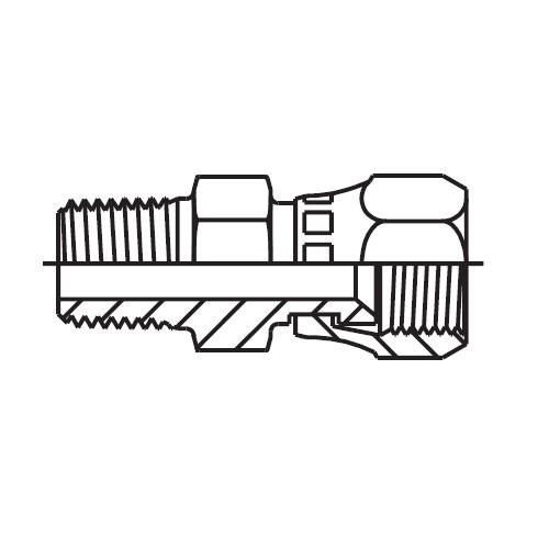 F6MX - hydraulické hrdlo s otočnou maticí Triple-Lok® 37°