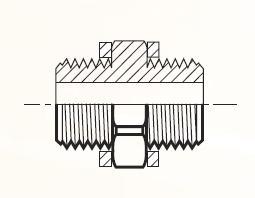 FF44 - pneumatický adaptér mosazný