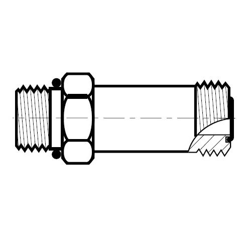 FF5OMLO - hydraulické dlouhé hrdlo šroubení O-Lok