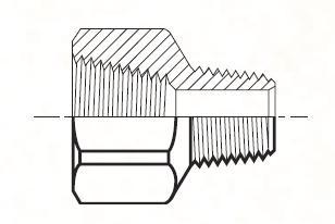 FG - pneumatický konektor mosazný redukovaný
