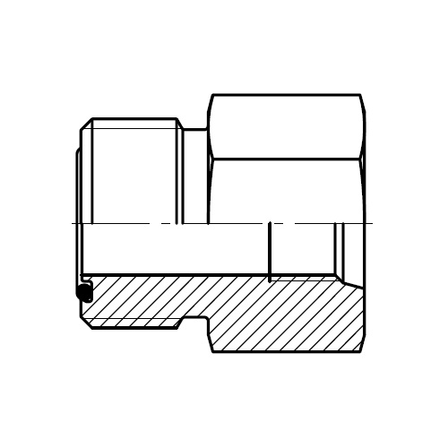 G87MLO - tlakové zkušební šroubení k manometru O-Lok