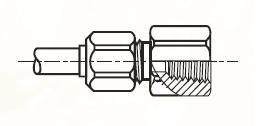 GBM - nástrčný dvoudílný konektor mosazný Metrulok