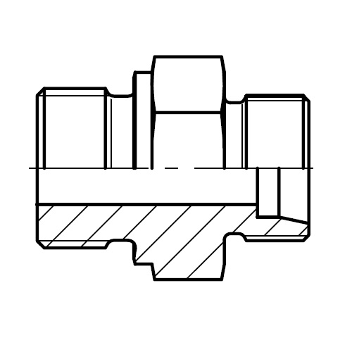 GE-M - hydraulické přímé hrdlo šroubení těsnění hranou