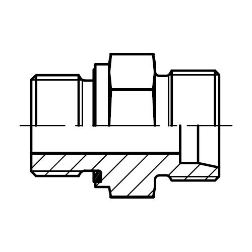 GE-M-ED - hydraulické přímé hrdlo šroubení s ED-těsněním