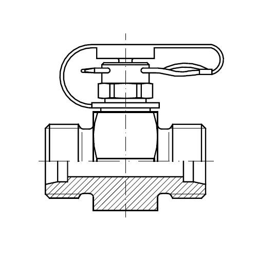 Hydraulické spojky s měřícím bodem GMA1 pin-lock se závlačkou