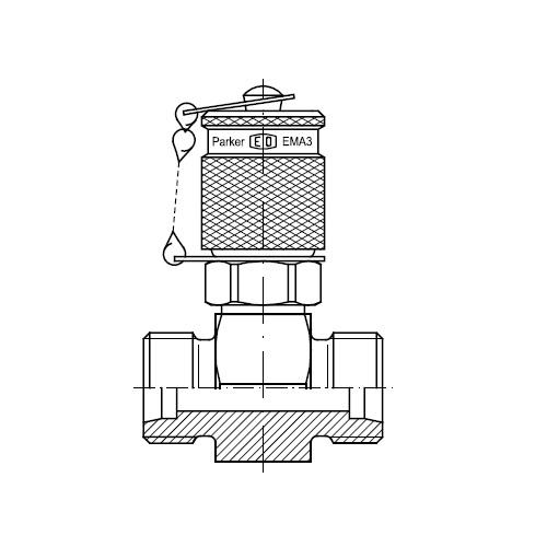 Hydraulické spojky s měřícím bodem GMA4 připojení M16x1,5