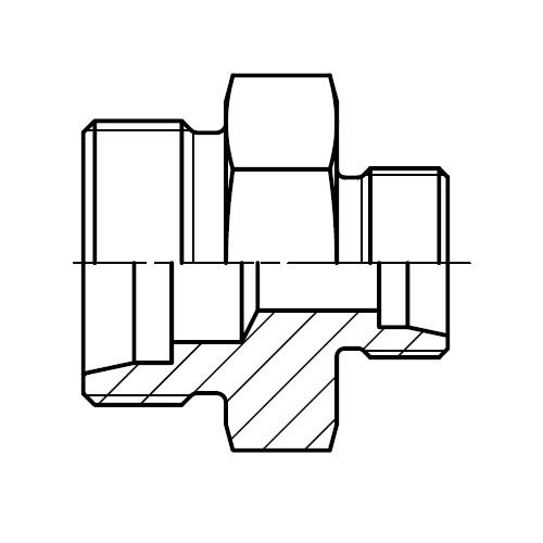 GR - hydraulická přímá redukční spojka šroubení