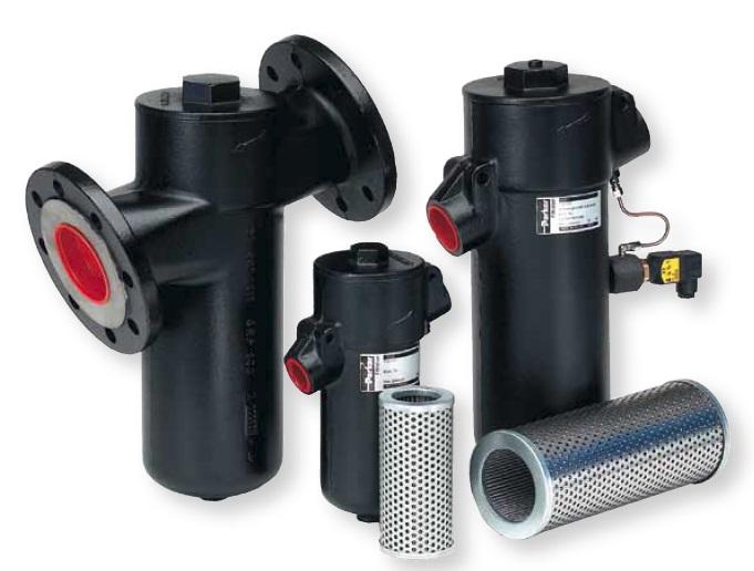 GS - hydraulický středotlaký vratný filtr do potrubí