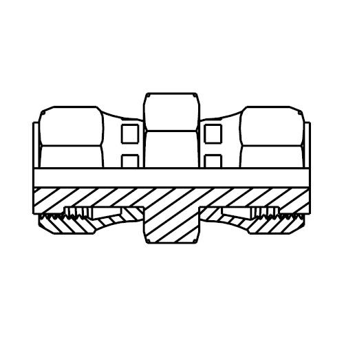 HL6 - hydraulická spojka přímá s otočnou maticí O-Lok