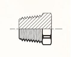 HP - pneumatická zátka mosazná