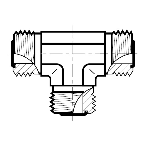 JMLO - hydraulická T spojka šroubení O-Lok