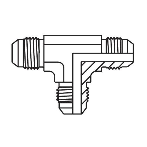 JMTX - hydraulická T spojka šroubení Triple-Lok® 37°