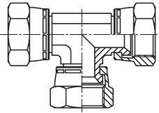 JX6 - spojka T matice/matice s otočnou maticí Triple-Lok® 37°