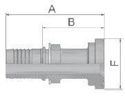 K1547 - koncovka SFL středotlaká přímá s na přírubu