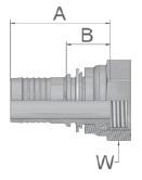 K9247 - koncovka DKR středotlaká přímá s maticí