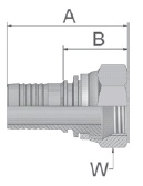 KB547 - koncovka středotlaká přímá s maticí