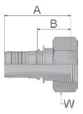 KC347 - koncovka DKL středotlaká přímá s maticí