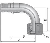 KEC47 - koncovka DKOR středotlaká 90°úhlová s maticí