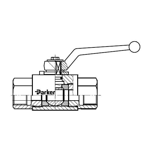 KH-BSPP(S)) - dvoucestný ruční kulový kohout