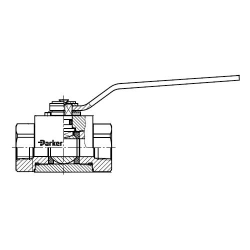 KH-NPT(71) - dvoucestný nerezový ruční kulový kohout