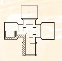 KMRO4434BL - pneumatický křížový adaptér