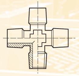 KRRS3BL - pneumatický křížový adaptér