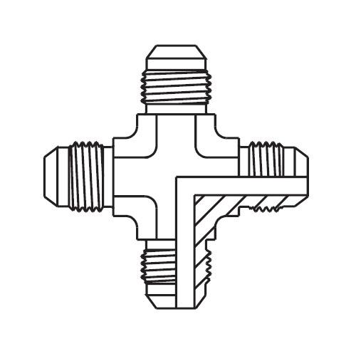 KTX - hydraulická křížová spojka šroubení Triple-Lok® 37°
