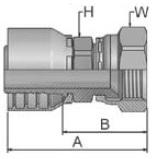 10648 - koncovka DKJ středotlaká nerezová přímá s maticí
