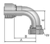 13948 - koncovka DKJ středotlaká nerezová 90°úhlová s maticí