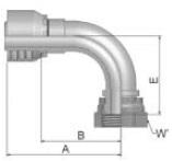 1B243 - koncovka DKR středotlaká nerezová 90°úhlová s maticí
