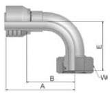 1CF43 - koncovka DKOL středotlaká nerezová 90°úhlová s maticí