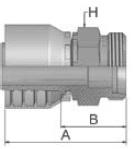 1D043 - koncovka CEL středotlaká nerezová přímá