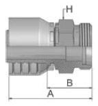 1D048 - koncovka DKOS středotlaká nerezová přímá s maticí