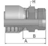 1D243 - koncovka CES středotlaká nerezová přímá