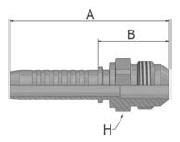 K03VS - koncovka AGJ vysokotlaká přímá