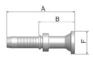 K15VS - koncovka SFL vysokotlaká přímá na přírubu