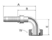 K1CVS - koncovka DKOS vysokotlaká 90°úhlová s maticí