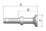 K6AVS - koncovka SFS vysokotlaká přímá na přírubu