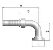 K6NVS - koncovka SFS vysokotlaká 90°úhlová na přírubu