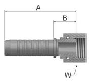 K92VS - koncovka DKR vysokotlaká přímá s maticí