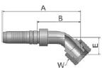 KB1V6 - koncovka DKR vysokotlaká 45°úhlová s maticí