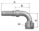 KB2V4 - koncovka DKR vysokotlaká 90°úhlová s maticí