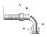 KB2VS - koncovka DKR vysokotlaká 90°úhlová s maticí