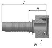 KC9VS - koncovka DKOS vysokotlaká přímá s maticí