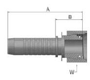 KCAVS - koncovka DKOL vysokotlaká přímá s maticí