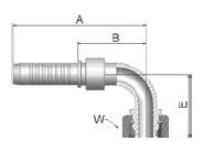 KCFVS - koncovka DKOL vysokotlaká 90°úhlová s maticí