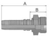 KD2V4 - koncovka CES vysokotlaká přímá