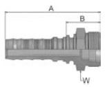 KD2V6 - koncovka CES vysokotlaká přímá