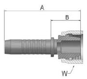 KF4VS - koncovka DKF vysokotlaká přímá s maticí
